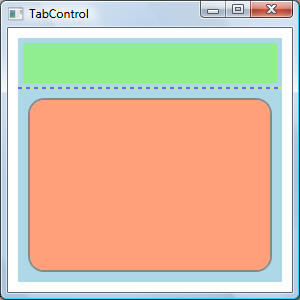 wpf tabcontrol template -